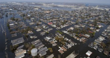 New Orleans flooded from Katrina